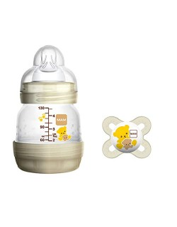 MAM Easy Start Anti-Colic Biberón anticólicos 130 ml + MAM Start chupete ortodóntico, set de 2 con tetinas MAM autoesterilizable