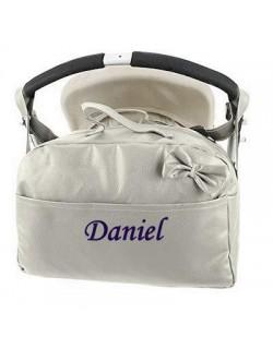 Bolso Carrito Bebe Polipiel Personalizado con nombre bordado -Danielstore