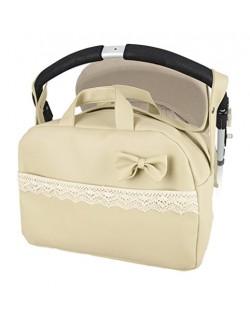 "Bolso Maternal lactancia para capazo carrito bebe ""danielstore"" . Color beige ( Mod Penelope )"