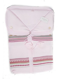 Saco capazo bebe universal de lana ( danielstore ) Color rosa