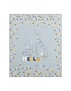 Piccola Casa 64508 - Alfombra, 90 x 110 cm, color gris y mostaza