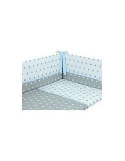 Danielstore - Funda nordica para CUNA , protector y funda de almohada, diseño American dream, 60 x 120 cm, Color azul