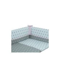 Danielstore - Funda nordica, protector y funda de almohada, diseño American dream, 60 x 120 cm, Color rosa + REGALO juego de sab