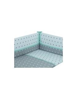 Danielstore - Funda nordica para CUNA , protector y funda de almohada, diseño American dream, 60 x 120 cm, Color verde + REGALO