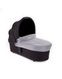 Baby Monsters - Capazo para Silla Globe + Cubre Capazo + Regalo Pack con dos baberos - Color Gris - Danielstore