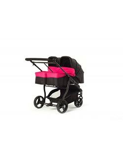 Baby Monsters Silla gemelar EASY TWIN 3.0.S + 2 capazos color fucsia+ Regalo de un bolso de Polipiel(Danielstore)