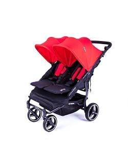 NOVA Easy Twin 3.0.S Cadeira Gêmea com Baby Monsters Normal Ride Hood - Cor Vermelha (Dossel Normal)