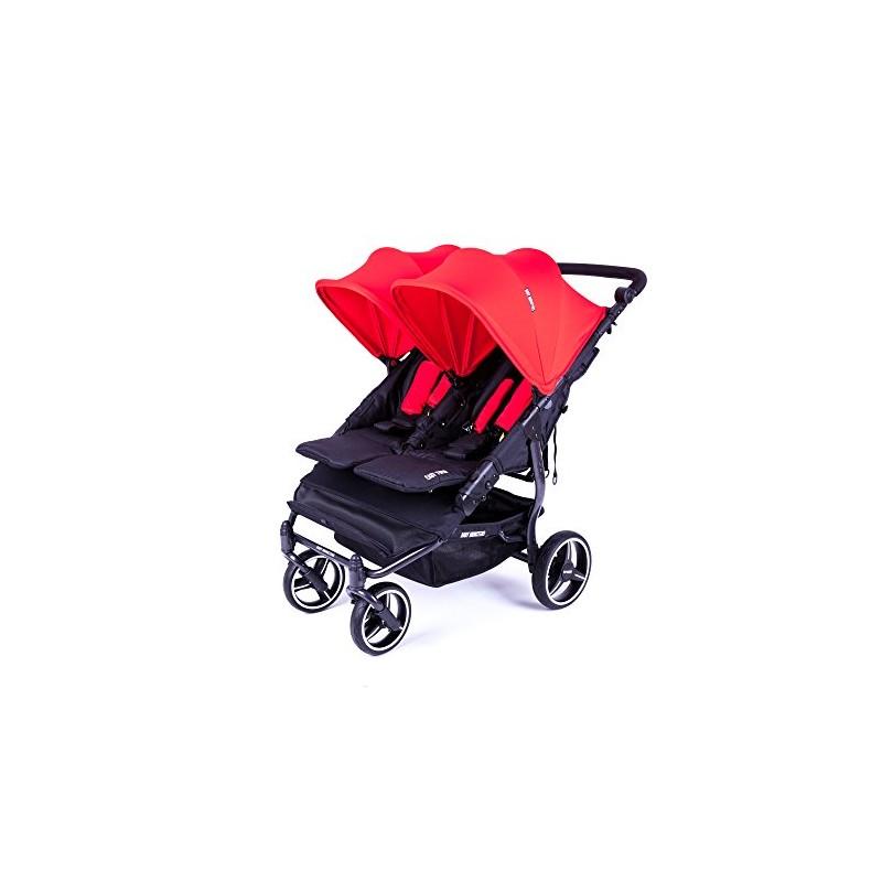 NUEVA Silla Gemelar Easy Twin 3.0.S con capota normal de paseo Baby Monsters - Color Rojo (Capota normal)
