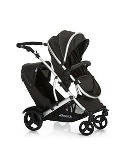 Hauck Duett 2 - carro gemelar, silla de paseo gemelar, capazo desde nacimiento, transformacion a sillita, asiento giratorio, asi