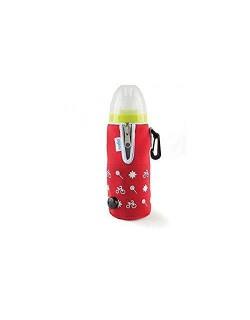 Nuvita 1074 Calienta Biberón Portatil con Cargador de Coche Desmontable, Unisex, Rojo