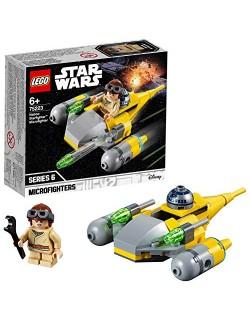 LEGO Star Wars - Microfighter: Caza Estelar de Naboo, juguete de construcción de nave espacial de La Guerra de las Galaxias con