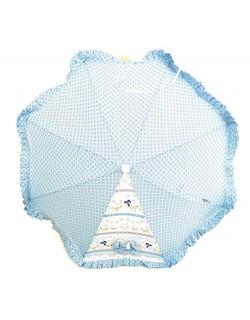 Sombrilla Carrito Bebe-Modelo Ositos- Danielstore Color azul