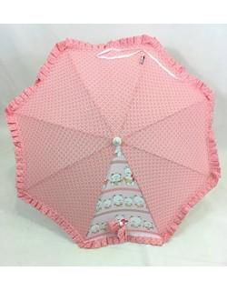 Sombrilla Carrito Bebe-Modelo Ositos- Danielstore Color rosa