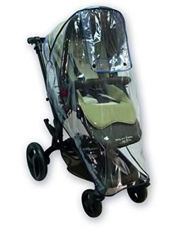 Protector de lluvia universal para silla de paseo, buena circulación del aire, ventana de contacto, fácil montaje en cualquier c