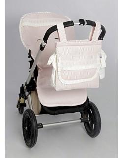 Funda Silla + Talega ( Serie Panal ) Color rosa