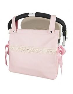 Talega polipiel carrito bebe Modelo Penelope- Color Rosa- Danielstore