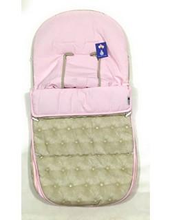 SACO DE INVIERNO SILLA DE PASEO PARA BUGABOO ( Serie Acolchado botón ) beige - rosa