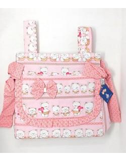 "Talega Maternal lactancia carrito bebe "" danielstore "" Modelo Ositos- Color Rosa"