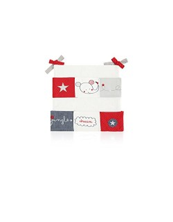 Pirulos Hello Dream - Murales cuna, color blanco y rojo