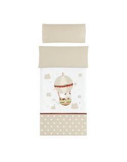 Petite Star Quilt Carcasa algodón 100% con el cojín cubierta Amici, para Maxi Cuna lino