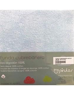 FUNDA CUBREBAÑERA CAMBIADOR BEBE RIZO 100% ALGODON ELASTICO 50X70/80CMS BABYCHISPITAS