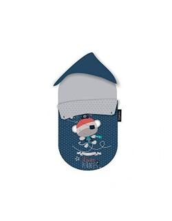 Pirulos 39013320 - Saco grupo 0, diseño pirate, algodón, 51 x 64 cm, color blanco y gris