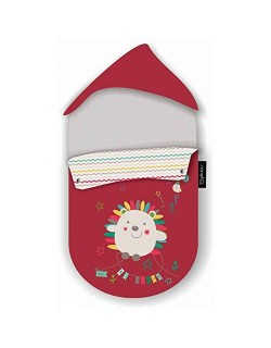 Pirulos 39013510 - Saco grupo 0, diseño espin, algodón, 51 x 64 cm, color blanco y lino