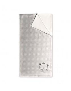 Pirulos 00612320 - Arrullo, diseño love, 75 x 75 cm, color blanco y gris