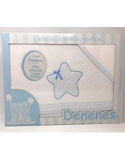 Sabanas invierno Coralina CUNA Color azul - (bajera+encimera+funda almohada) (Danielstore) (136 azul)