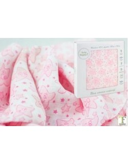 Baby Happy Muselina Grande 120x120 Algodón 21248 Rosa