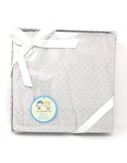 Danielstore - Manta bebe circulos multiusos bebe 80 cm x 110 cm Color gris