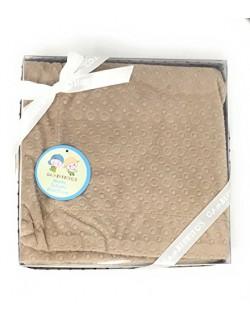 Danielstore - Manta bebe circulos multiusos bebe 80 cm x 110 cm Color marrón