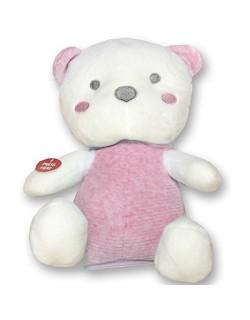Peluche oso rosa. Con música, luces cambiantes y movimiento. Tamaño 25 cm de alto.