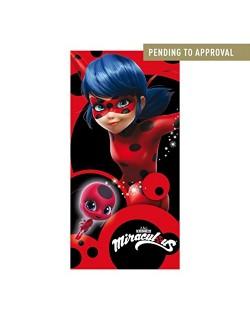 Artesanía Cerdá 2200002393 Toalla Playa algodón 70 x 140 cm, diseño Lady Bug Miraculous