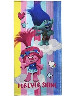 Trolls-2200002779 Toalla Playa y Piscina, Estampado (Artesania Cerda 2200002779