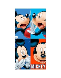 Toalla Mickey Disney Faces algodon