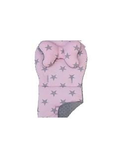 Cottonmoose-Colchoneta Silla Paseo Estrellas Rosa- Hecha a Mano Danielstore