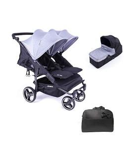 Baby Monsters Silla Gemelar Easy twin 3.S.LITE+ 1 Capazos + Regalo Bolso - Danielstore
