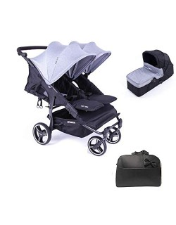 Baby Monsters Silla Gemelar Easy twin 3.S.LIGHT+ 1 Capazos + Regalo Bolso - Danielstore