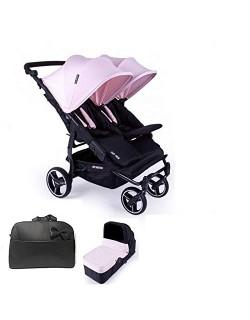Baby Monsters Silla Gemelar Easy twin 3.S LIGHT + 1 Capazos + Regalo Bolso - Danielstore