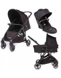 Baby Monsters Trio, carrycot, cadeira e assento reversível. Cor dakar