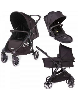 Trio de Baby Monsters, capazo, silla y asiento reversible.Color Dakar