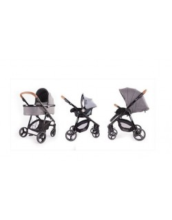 Baby Monsters Fresh 3.0 Texas 3 Piezas ( silla + capazo + grupo 0 ) + Regalo Base isofix para...