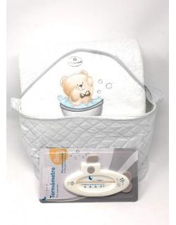 Neceser Plastificado + Capa de baño (1 x 1 m) + Termometro de bañera de regalo- Daniesltore