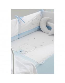 Edredon Cuna + Protector desenfundable + Cojin Modelo Osito Polar - Pirulos Color a elegir