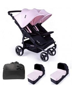Baby Monsters Silla Gemelar Easy twin 3.0.S + 2 Capazos + Regalo Bolso - Danielstore