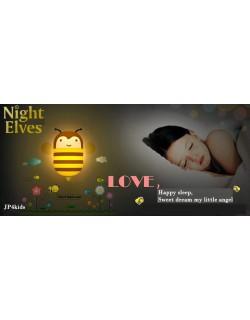 jp4kids Baby Luz nocturna + Pared adhesivos en Juego