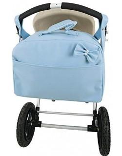 Bolso Carro Bebe Polipiel Bandolera Maternal. Color celeste-danielstore