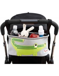 3 Sprouts Cocodrilo - Organizador para silla de paseo, unisex