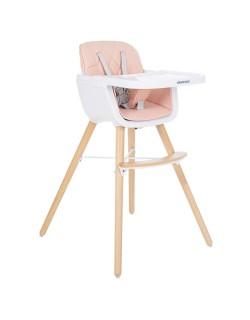 Kikkaboo Trona Woody Rosa Evolutiva con asiento de polipiel